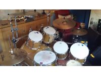 Drum kit 7 piece yamaha kit plus cymbals, hardware, hard cases as well.