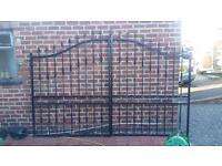 Wrought iron look gates
