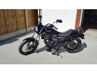 Sinnis hoodlum 125cc motorcycle 2018 £1500