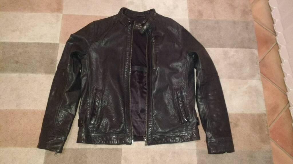 Men's next leather jacket. Medium