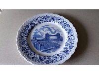 "Vintage antique WH Grindley & Co Ltd set of 4 x 11"" with 'London Scenes' design Dinner Plates"