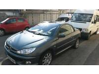 Peugeot 206 cc in great condition, 12 months MOT, FSH, low mileage 43000