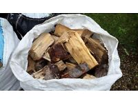 Large quantity Split, well seasoned logs, mixed hard wood and soft wood.
