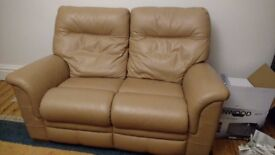 2 Seater Parker Knoll Leather Sofa