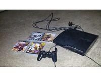 PS3 console slim, sony control +4 games