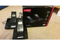 Black cordless house telephones