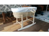 Moses Basket with matress and rocker stand