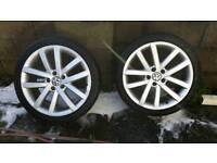 Genuine golf mk6 gtd wheels