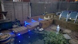 Brand new - TIMBER DECKING with LIGHTING - any location