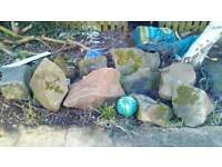 Sandstones rockery rocks pond