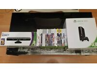 xbox 360 with kinect,21 games and 2 controllers