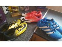 3 pair football boots £20
