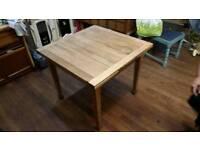 Oak extendable kitchen table