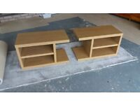 2 Next side tables. Stackable. Light Oak