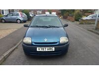 1999 Renault clio 1.2 litre engine, manual, petrol, 5 door, hatchback, HPI CLEAR, DRIVES PERFECT