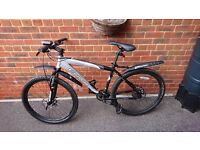 "Carrera Kraken 20"" mountain bike. New brake pads and discs, lights and mudflaps!"