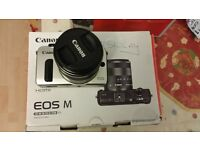 Canon EOS M Compact System Camera Black (18MP, 90EX 18-55mm f/3.5-5.6 IS STM) 3.0 inch Touchscreen