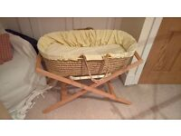 Mama and Papa moses basket stand plus accessories