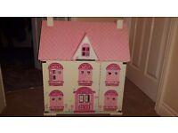 ELC Rosebud dolls house with furniture
