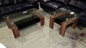 Stylish glass coffee table and lamp(Ex display unit) RRP £350+