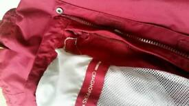 Burgundy woman Craghoppers waterproof coat size 38
