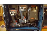 New Bosch - GSB 18 V - LI Pro Combi Drill and GDR 18 - Pro Impact Drive Two 3 Amp Battery