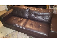 2 --* Leather sofas, very comfortable, need a home.