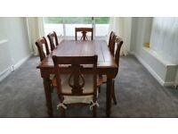 Dining Table With 6 Matching Chairs ( Mahogany ? )