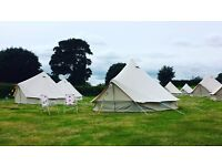 TENTED LUXURY BELL TENT HIRE Glamping, Festival, Wedding, Party, Event Accommodation