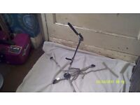 SAXOPHONE STAND in NICKEL PLATE ALTO or TENOR , FOLDS DOWN VERY SMALL in V.G.C.++++