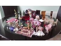 Selection of Victorian Dolls House Furniture & Electric Distrubution Control