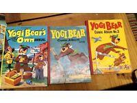 YOGI BEAR'S OWN ANNUAL (1964) + BONUS ITEMS 2 FREE VINTAGE YOGI BEAR COMIC BOOKS