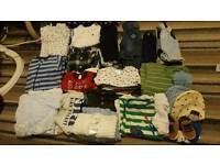 Baby boys clothes 0-9 mths
