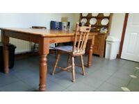Pine kitchen table 60inch x 40inch x 30 inch