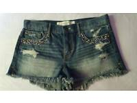 Abercrombie and Fitch denim shorts size 8 - 10
