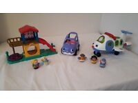 Fisher Price Little People Car, Plane and Playground bundle