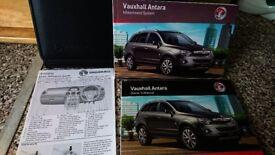 VAUXHALL Antara SE HANDBOOK OWNERS MANUAL + oem genuine Soft LEATHER WALLET brand new