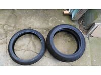 Motorbike tyre set, ideal for track day