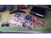 ps3 with drums guitar games etc