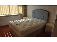 Small Double Bed Silent Night hardly used with Mattress and Headboard. Drawers on both sides!