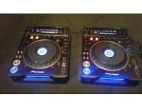 pioneer dvj1000 cd dvd players x2 pair immaculate condition