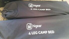 2 x Higear 4 leg camp bed