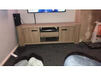 Light oak next tv unit