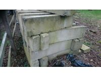 Concrete blocks 'slightly curved' approx 290 available