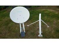 Tooway satellite dish, LNB and mount.