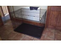 2XL DOG CRATE,FROM PETS AT HOME,FOLDS FLAT FOR EASY TRANSPORT,STORAGE
