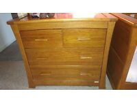 Solid wood cotbed and changing unit