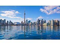 1 return ticket, London- Toronto, 23 Jun- 2 Jul