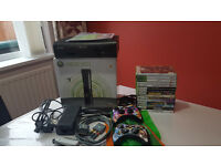 Xbox 360 Elite 120GB with two controllers and 15 top games