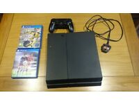 PS4 console with controller and fifa 16 & 17 free games